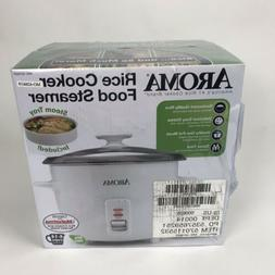 Aroma 14 Cup Non-Stick & Dishwasher Safe White Rice Cooker