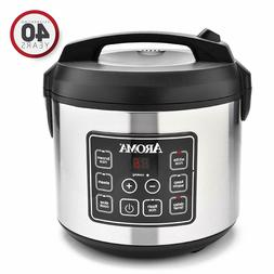 Aroma Housewares 20 Cup Cooked Digital Rice Cooker, Food Ste