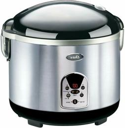 Oster 20-Cup Digital Rice Cooker, Black/Stainless Steel