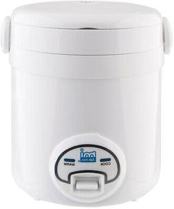 Rice Cooker 3-Cup Mini Non Stick Compact Personal Pot Dishwa