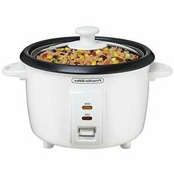 "37534NR Rice Cooker, 8 Cups Cooked, White Kitchen "" Dining"