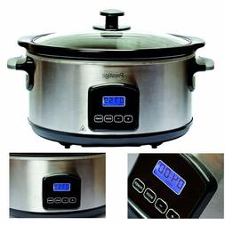 Prestige 46447 5.5 Litre Digital Slow Cooker - Silver