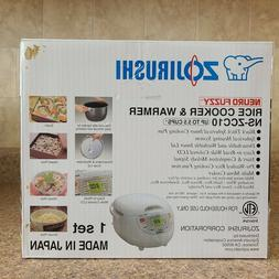 Zojirushi 5.5 Cup Fuzzy Rice Cooker - White NS-ZCC10 New Uno