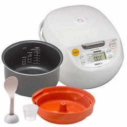 Tiger 5.5-Cup Micom Rice Cooker Warmer Made In Japan JBVS10U