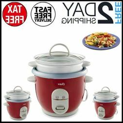 6-Cup Professional Rice Cooker with Steamer Tray Multi-use
