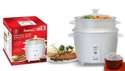 6-Cups White Automatic Electric Rice Cooker & Steamer Tray &