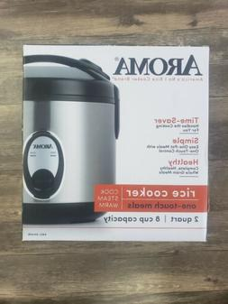 Aroma 8 Cup  Rice Cooker - Stainless Steel ARC-904SB - Free
