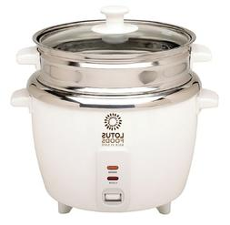 Lotus Foods Gourmet Stainless Steel Rice Cooker and Steamer,