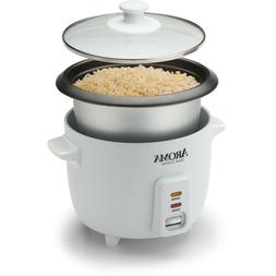 Aroma ARC-363NG 6 Cup Non-Stick Pot Style White Rice Cooker,