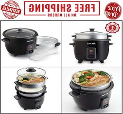 Aroma 3 Cups Uncooked/6 Cups Cooked Rice Cooker, Steamer, Si
