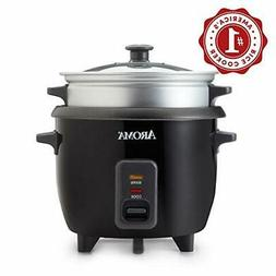 Aroma 3 Cups Uncooked/6 Cups Cooked Rice Cooker Steamer Silv