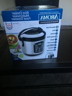 Aroma 8-Cup Cooked Digital Rice Cooker and Stainless Steel S