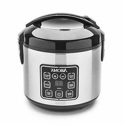 Aroma 8C Digital Cool-Touch Rice Cooker and Food Steamer, St