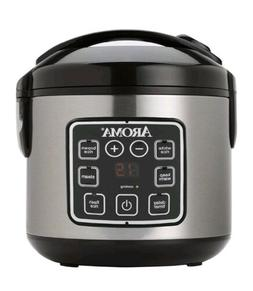 Aroma Electric Rice Cooker Steamer Food Warmer 8 Cup Non Sti