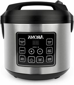 Aroma Housewares 20 Cup Cooked  Digital Rice Cooker, Slow Co
