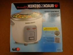 Black & Decker Home 3-Cup Rice Cooker Model RC3203, Brand Ne
