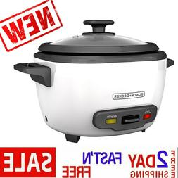 BLACK+DECKER RC516 Uncooked Rice Cooker 16-cup White and Foo
