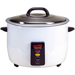 Aroma Commercial Rice Cooker, 60-Cup, White, 1 ea
