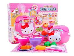 hellokitty girl pretend play rice electric cooker
