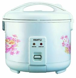 Tiger JNP-0720-FL 4-Cup  Rice Cooker and Warmer, Floral Whit