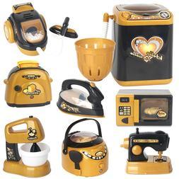 JW_ Kids Role Play Home Kitchen Appliance Toy -Blender & Bre