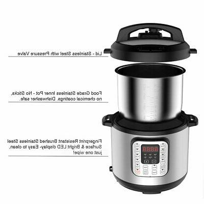 1000W Instant Pressure Cooker 6 Multi function Rice