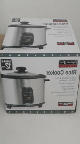 professional series 12 cup rice cooker silver