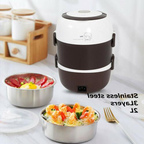 portable 2l 3 layers electric lunch box