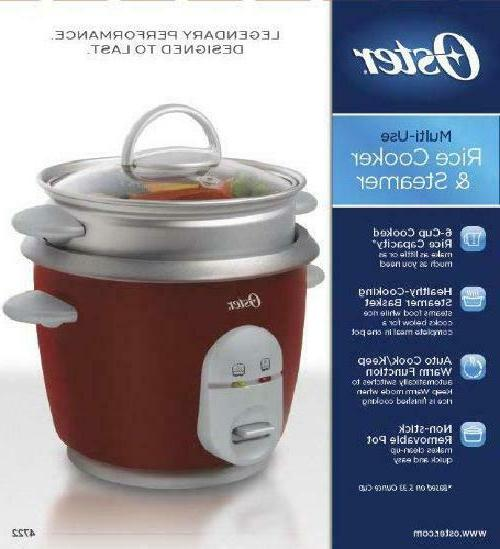 Oster 6-Cup Cooker with Steamer,