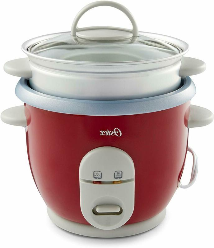 6 cup rice cooker with steamer red