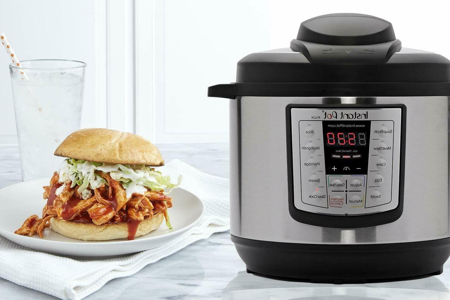 6 Qt 6-in-1 Programmable Pressure Cooker, Slow Cooker, Rice
