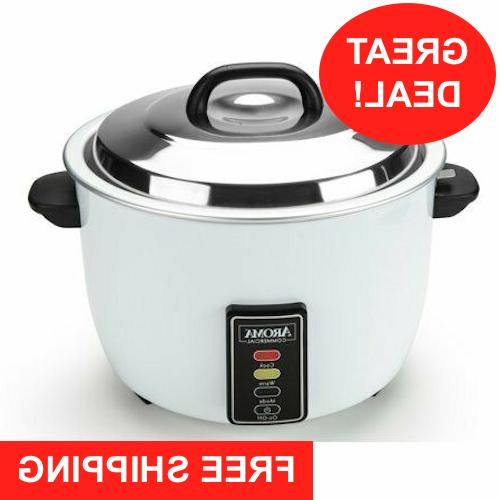 Aroma 60 Cup Commercial Rice Cooker Big Large Business Resta