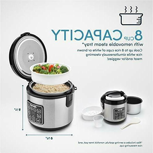 Aroma Cool-Touch Rice and Food Steamer, Silver
