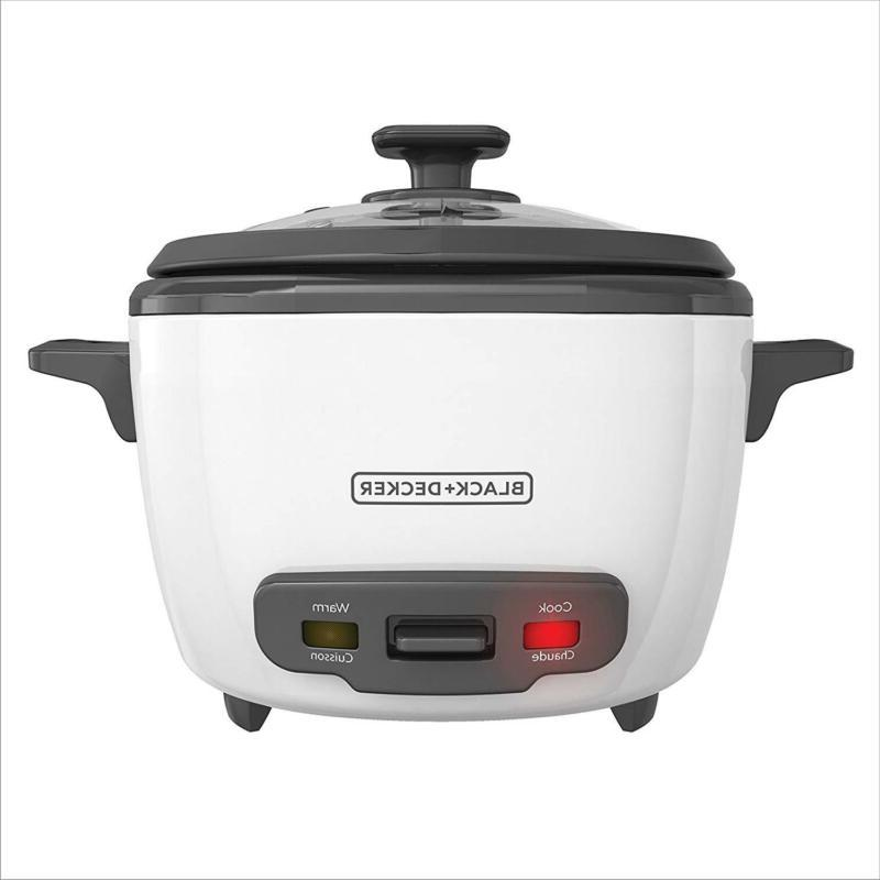BLACK+DECKER Cooked/8-Cup Rice Cooker and