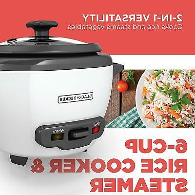 BLACK+DECKER RC506 Cooked/3-Cup Food Steamer,