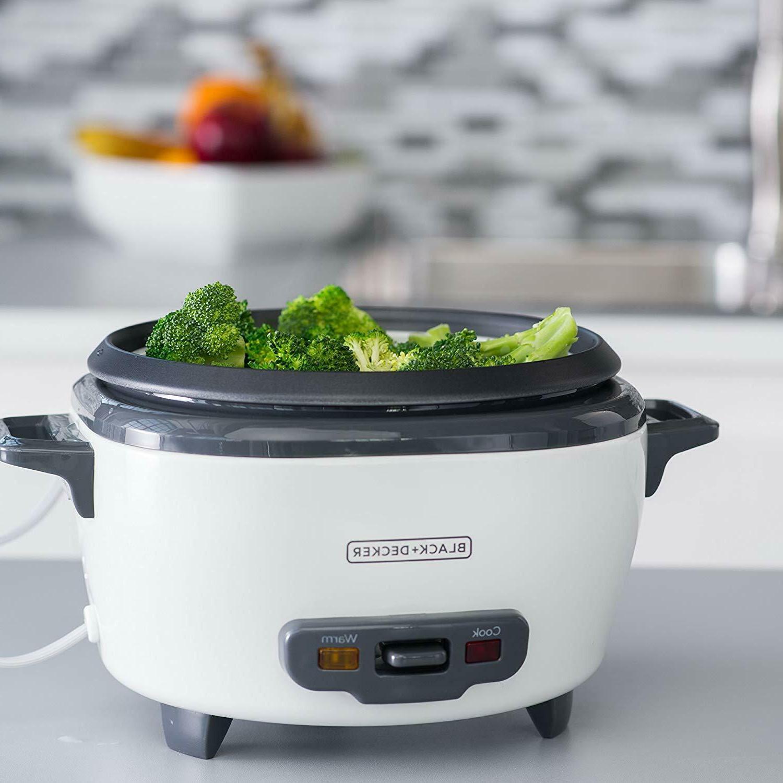 Rice Cooker And Food Steamer Basket Black Decker Warmer 6 Cup