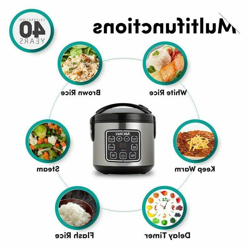 Digital Cooker Slow Food 8 Cup Cooked Kitchen