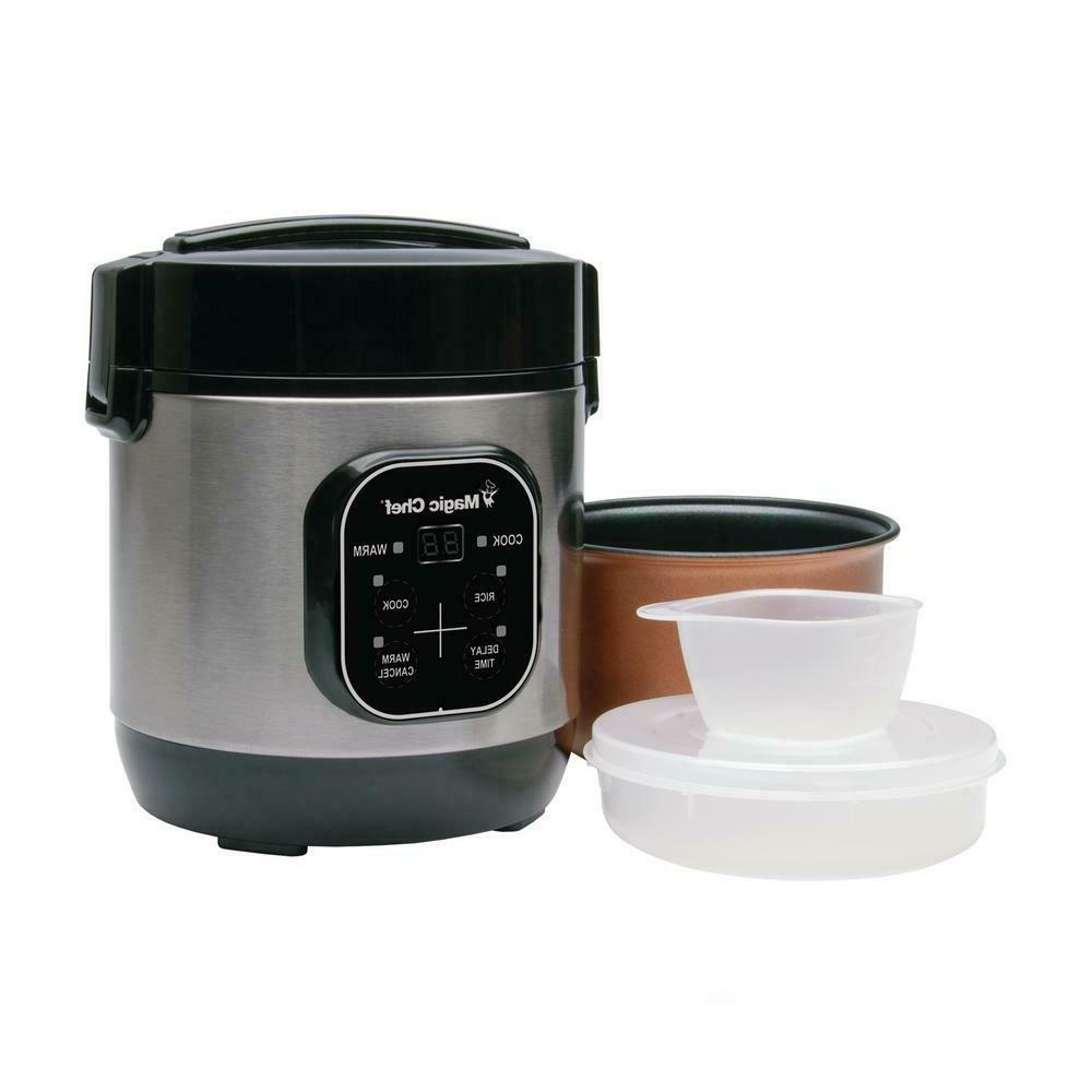 Magic Chef Cup Mini Stainless Rice Cooker Cook Pot