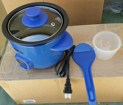 2 piece mini rice cooker drcm100bu blue