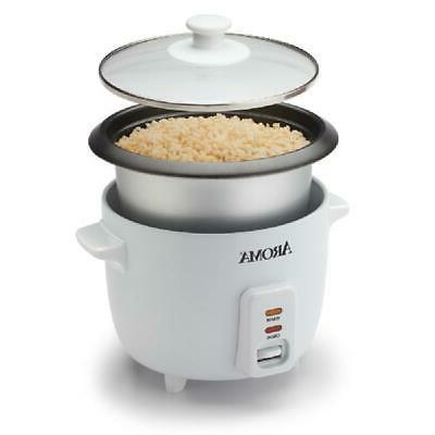 Non Stick Pot Electric Aroma Automatic 6 Cup White