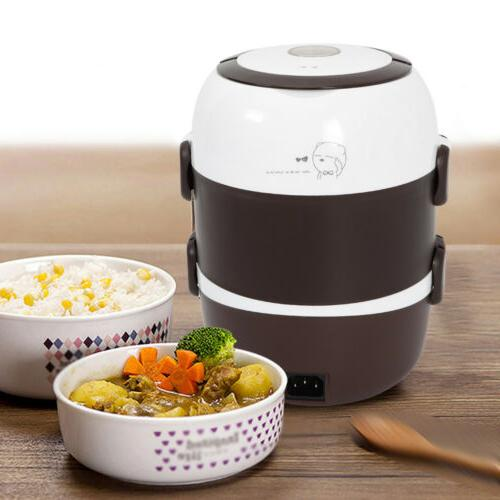 Portable 2L Layers Electric Box Steamer Pot Rice Cooker Warmer