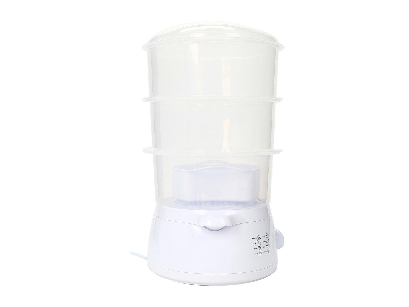 Rosewill 3-Tier Food Steamer 800 - gal - White