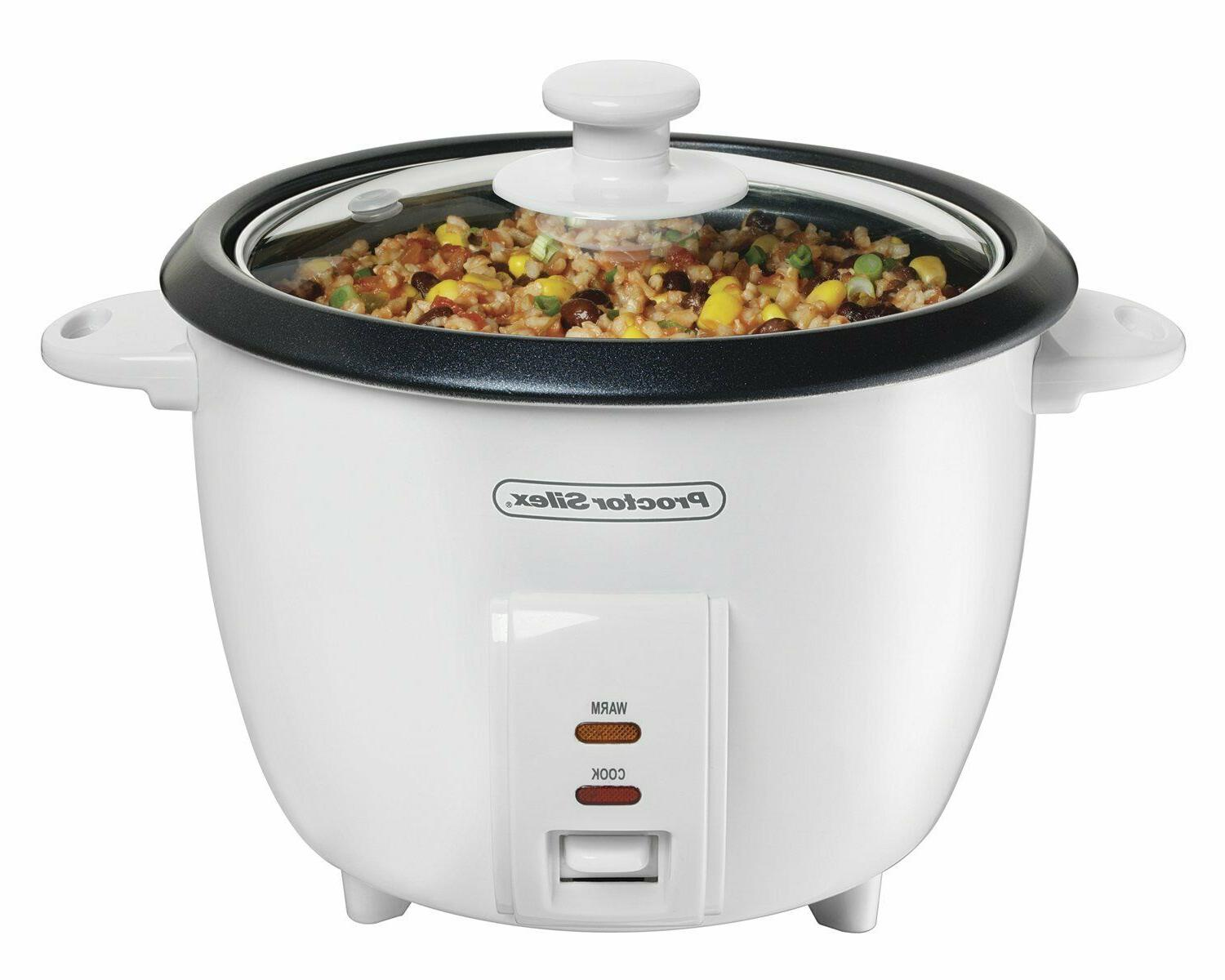 RICE COOKER 5 Cup Uncooked Nonstick Warm Steam Cooking Pot E