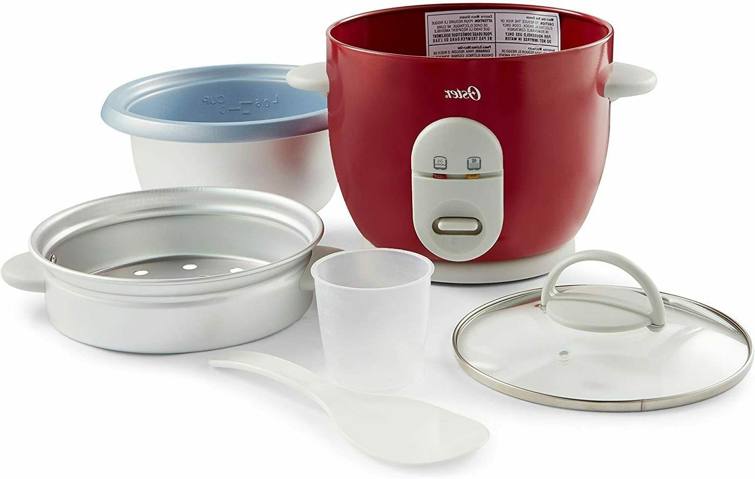 Rice Oster Steamer Stick Pot Automatic Warmer Red