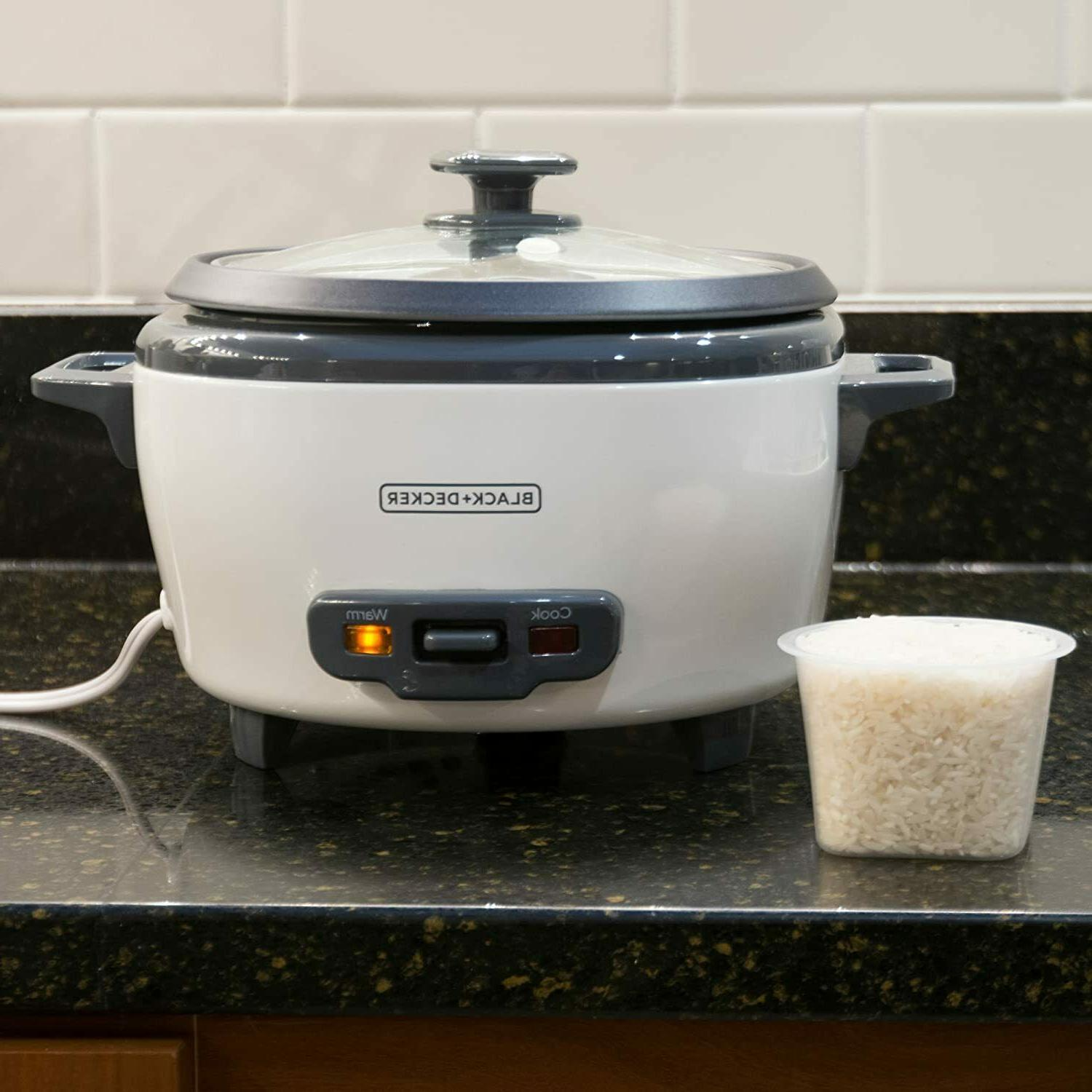 Rice Cooker Electric Steamer 6-Cup Warmer Basket