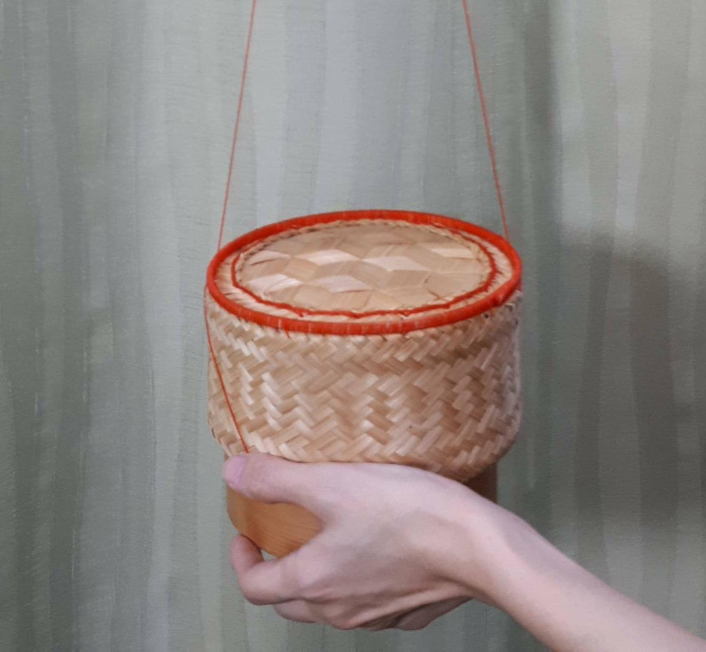 thai rice basket midium size for rice cooker กระติ้บ