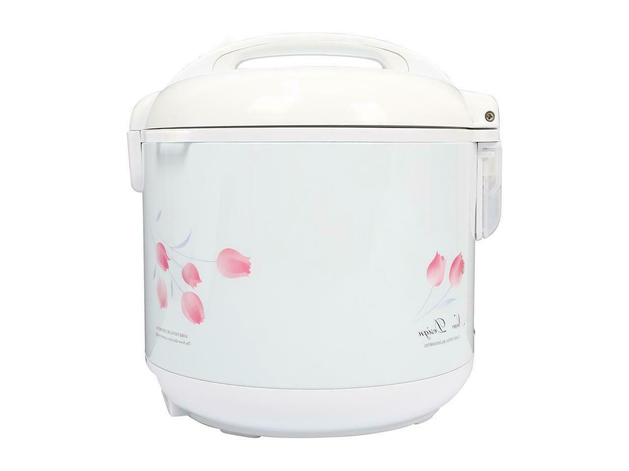 TRC-04 Cool Rice Cooker with Basket, White NEW
