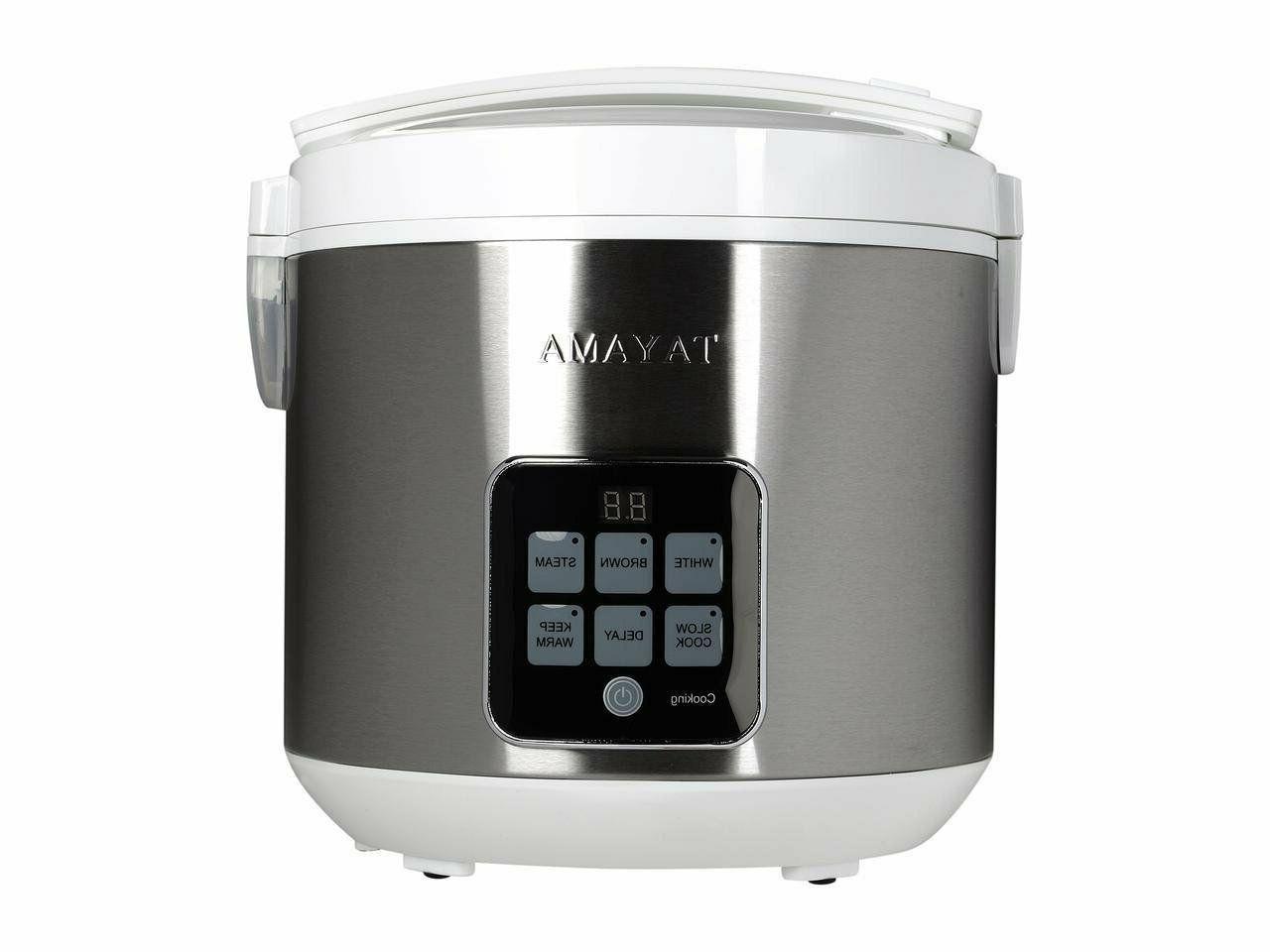 Tayama Cup Digital Rice Food Steamer, White