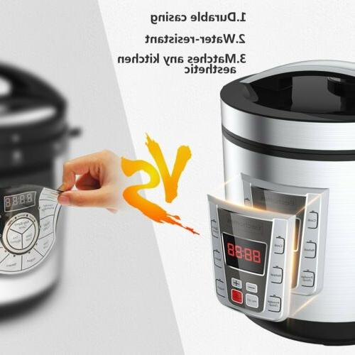 12-Cup Uncooked Digital Rice Cooker Food Steamer Stainless Steel