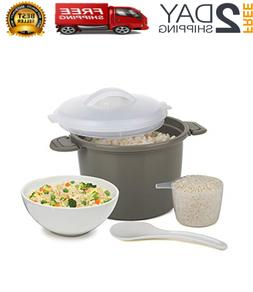 Microwave Rice Cooker Steamer Lid Pampered Chef Cup Bowl Kit